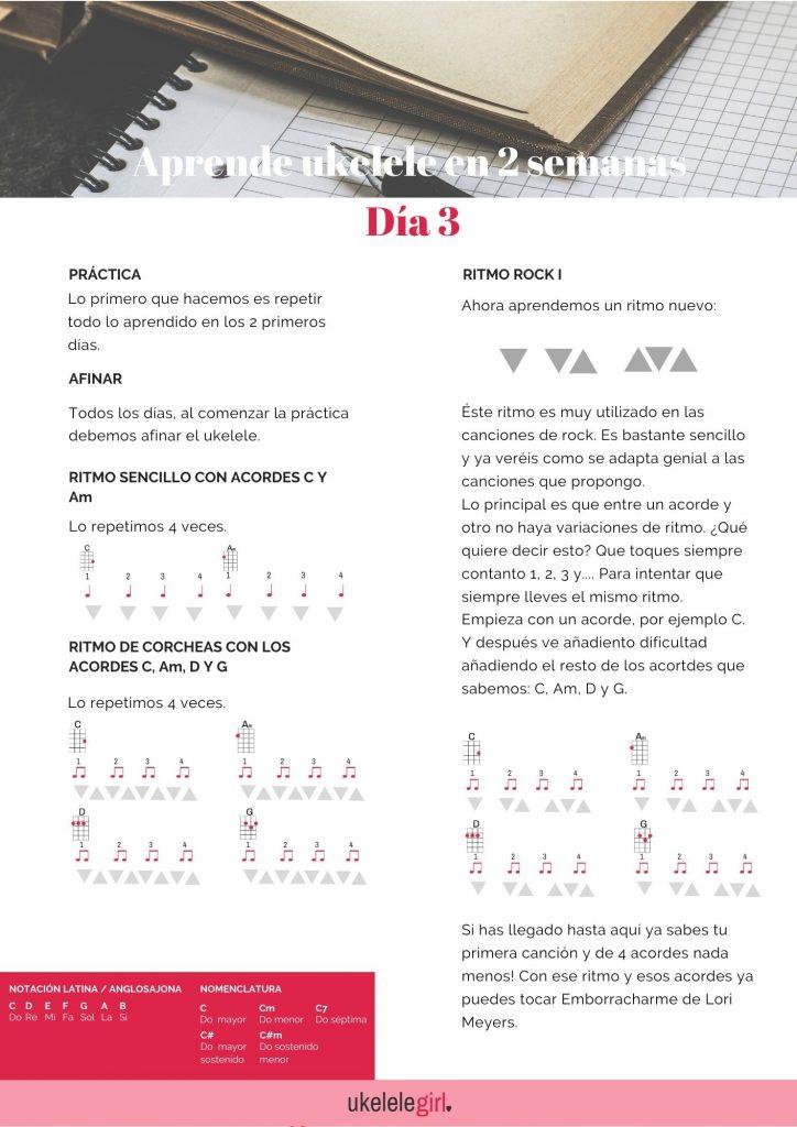 Aprende ukelele en 2 semanas – Día 3