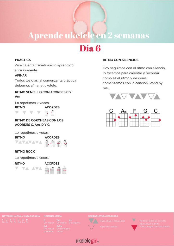 Aprende ukelele en 2 semanas – Día 6