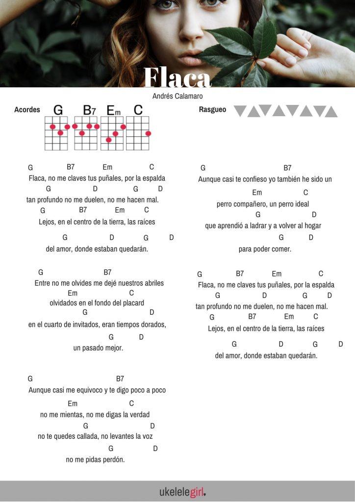 Aprende ukelele en 2 semanas – Día 7 Flaca de Andrés Calamaro para ukelele