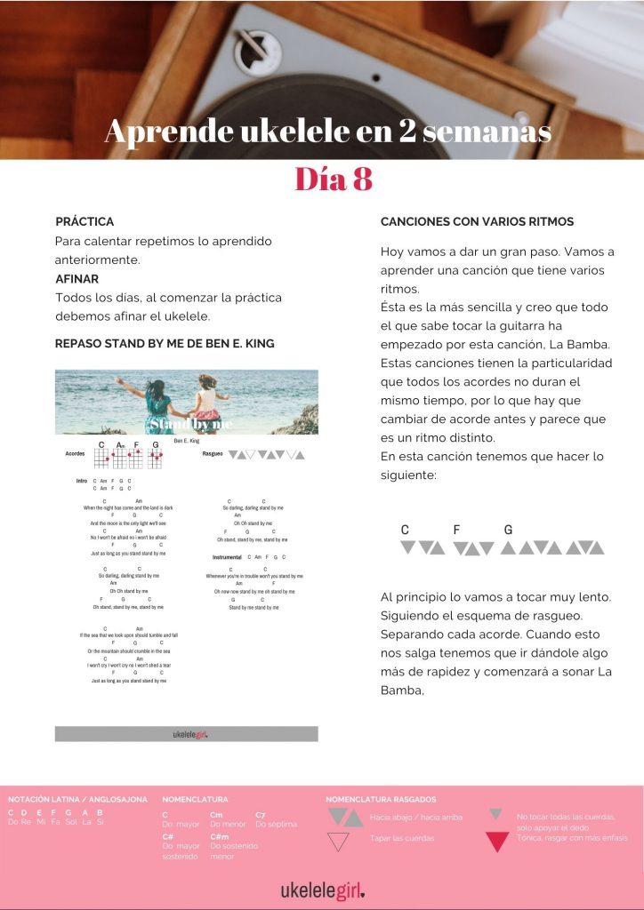 Aprende ukelele en 2 semanas – Día 8