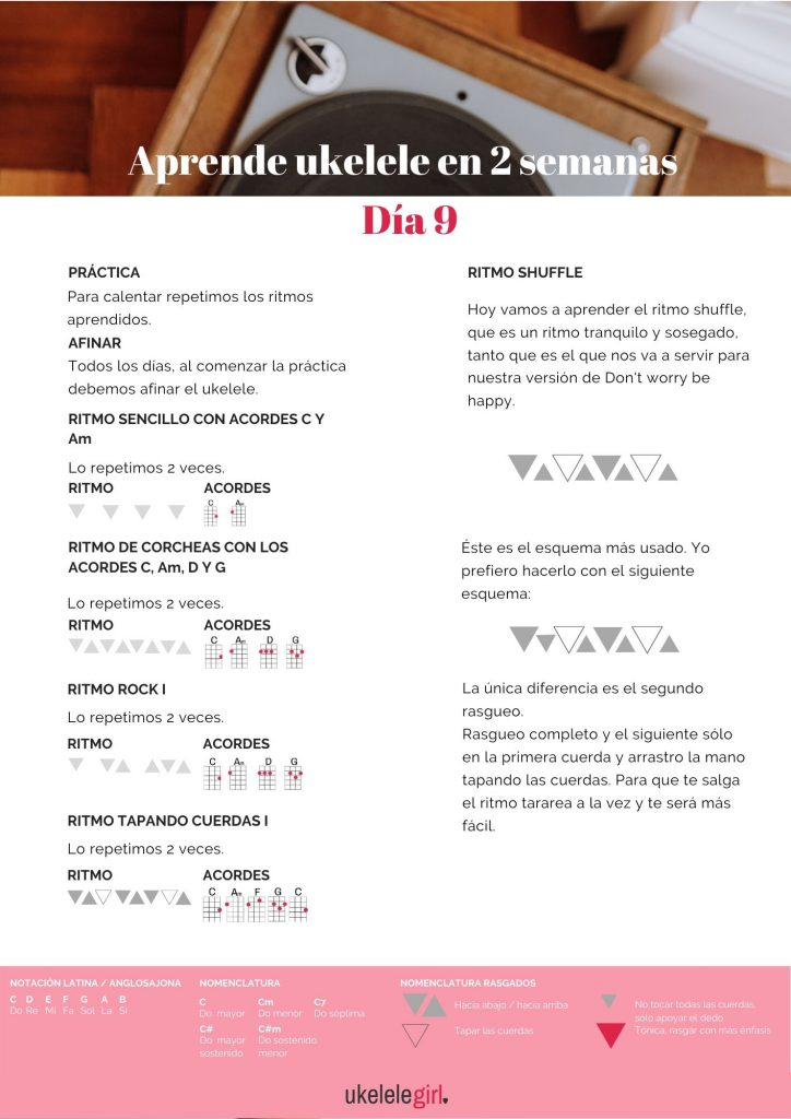 Aprende ukelele en 2 semanas – Día 9